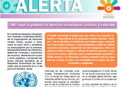 Conoce las preocupaciones y recomendaciones de la ONU ofrecidas a Venezuela en materia de DESC