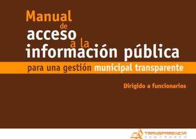 Manual de Acceso a la Información para una Gestion Municipal Transparente