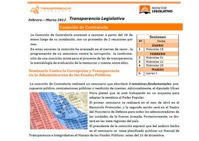 Solicitan devolver informe sobre Ley contra la Corrupción