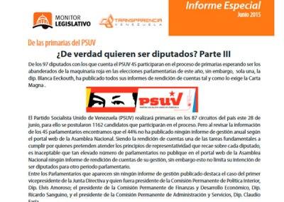 42 diputados del PSUV no han rendido cuentas