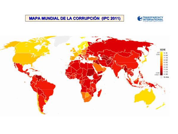Índice de Percepción de la Corrupción (IPC): 2011
