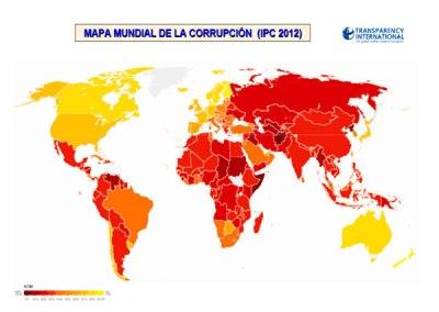 Índice de Percepción de la Corrupción (IPC): 2012