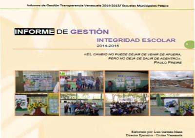 Informe de Gestión Integridad Escolar 2014-2015