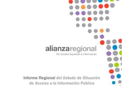 Informe Regional del Estado de Situación de Acceso a la Información Pública