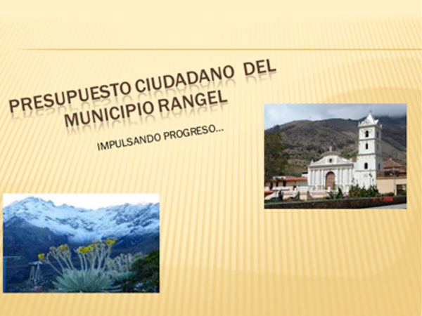 Presupuesto CIudadano – Municipio Rangel, Estado Mérida