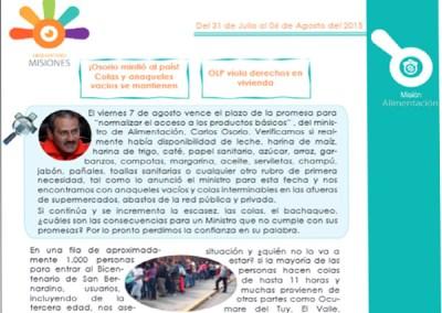 ¡Osorio mintió al país! Colas y anaqueles vacíos se mantienen