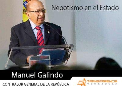 Nepotismo en el Estado: caso del Contralor Manuel Galindo