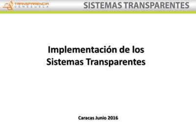 Implementación de los Sistemas Transparentes