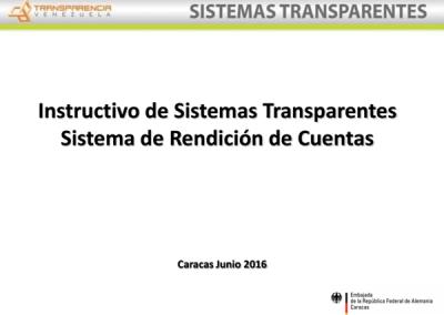 Instructivo: Sistema de Rendición de Cuentas