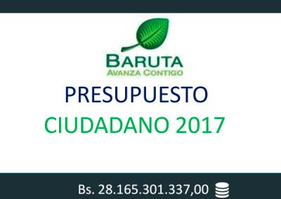 Presupuesto Ciudadano 2017 – Baruta