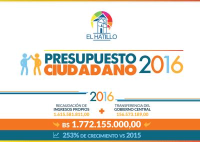 Presupuesto Ciudadano 2016 – El Hatillo