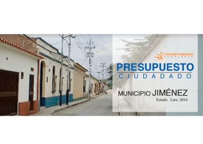 Presupuesto Ciudadano 2016 – Municipio Jiménez, Lara