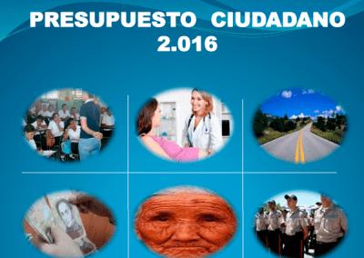Presupuesto Ciudadano 2016 – Municipio Torbes, Táchira