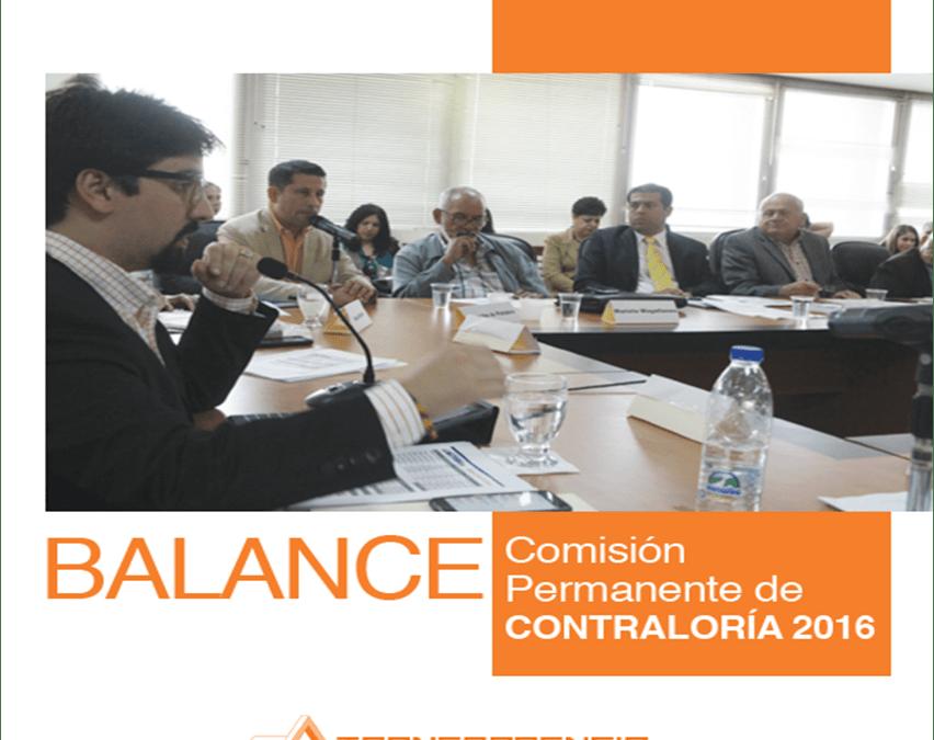 Balance 2016: Comisión de Contraloría