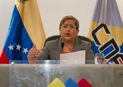 Transparencia Venezuela solicita a la rectora Lucena balance de la campaña de Chávez de 2012