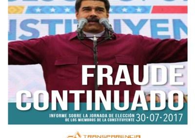 Elección de la ANC: Fraude continuado