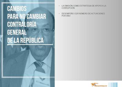 Cambios para no cambiar Contraloría Gneral de la República