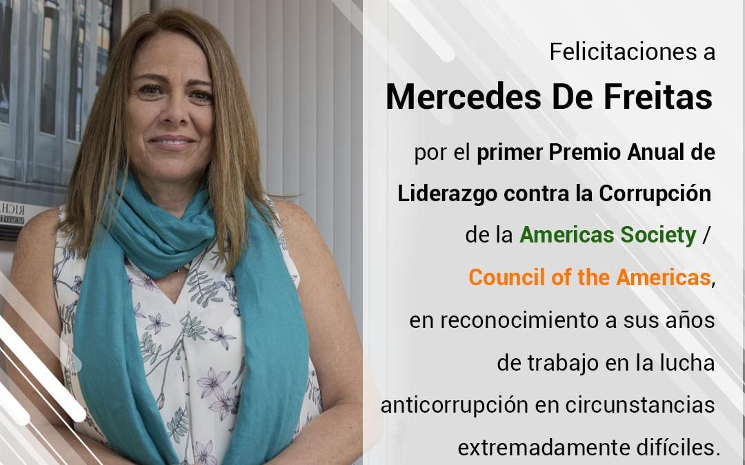 Directora Ejecutiva de Transparencia Venezuela galardonada con el Premio al Liderazgo Anticorrupción