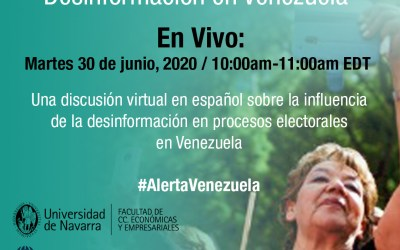 Analizarán la influencia de la desinformación en los procesos electorales en Venezuela