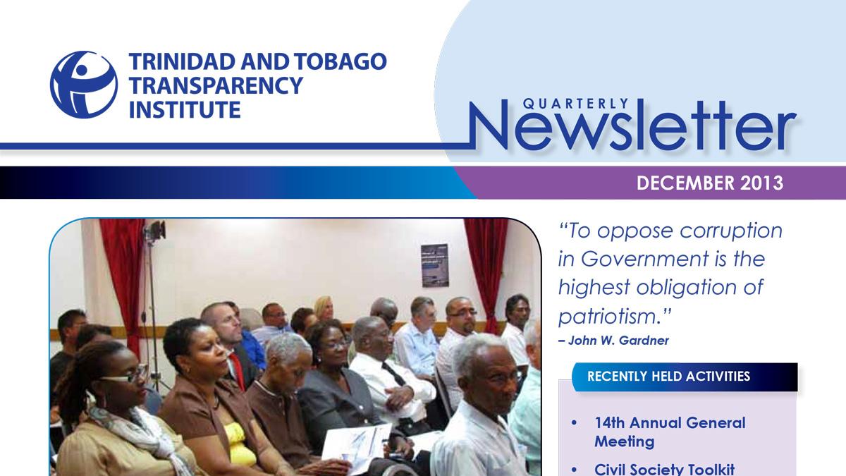 TTTI Newsletter Dec 2013