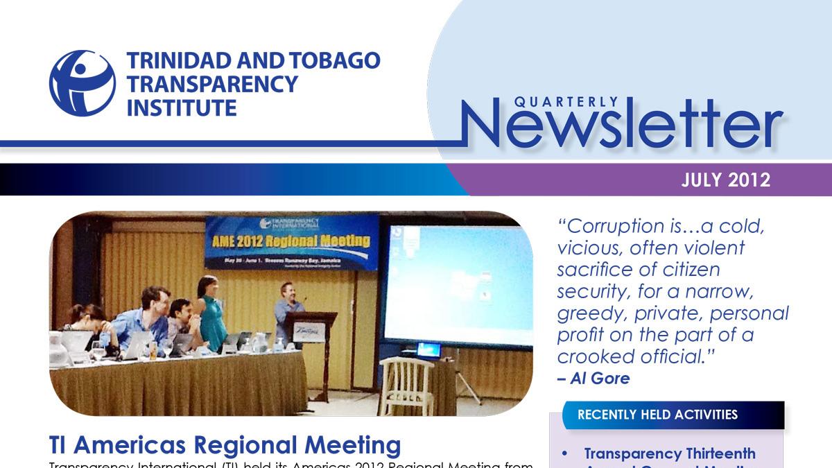 TTTI Newsletter Jul 2012