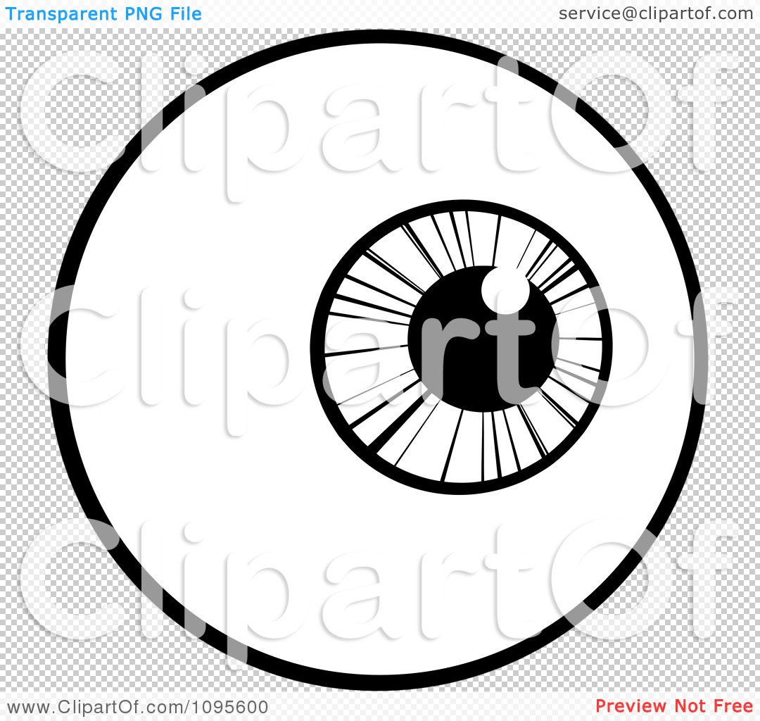Clipart Black And White Eyeball Looking Right