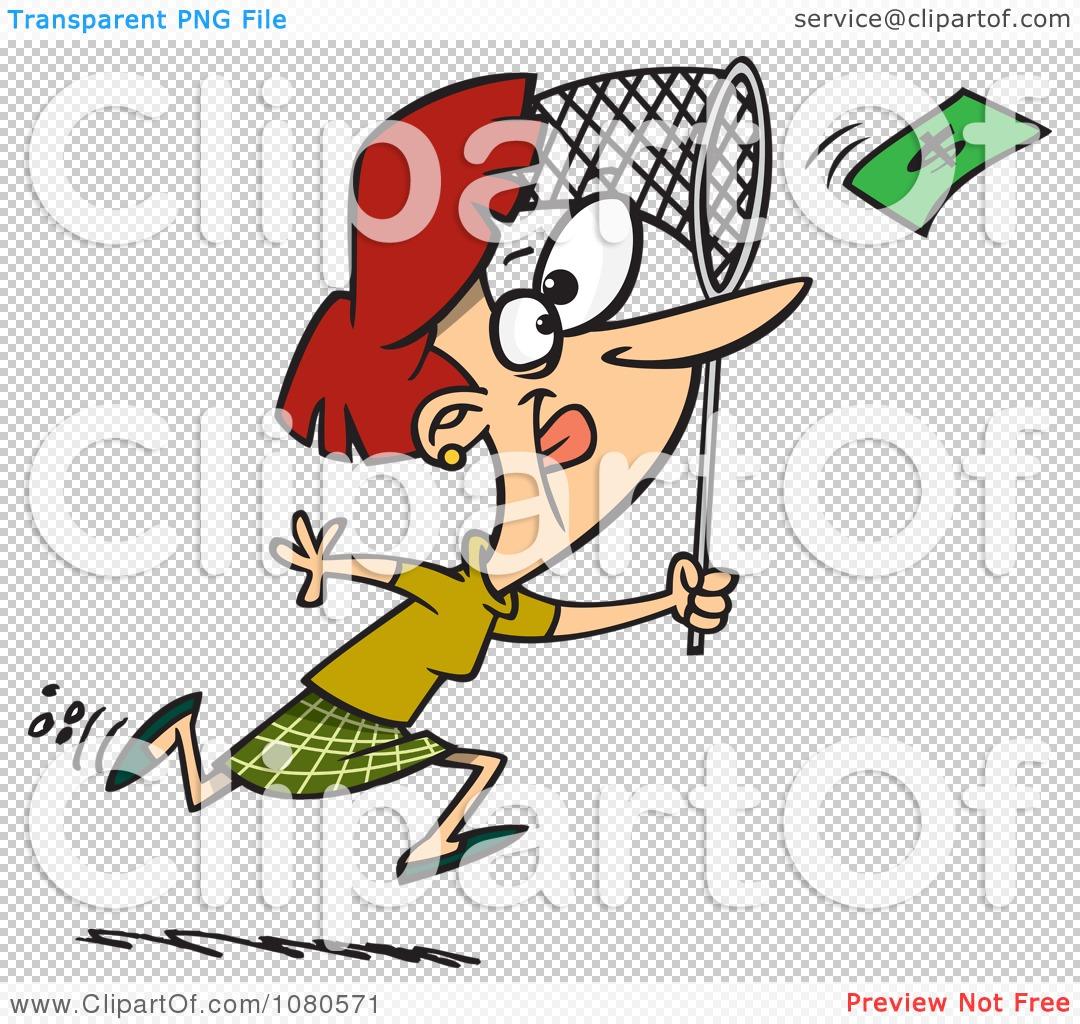 Money Size Man 2000 Cartoon Chasing