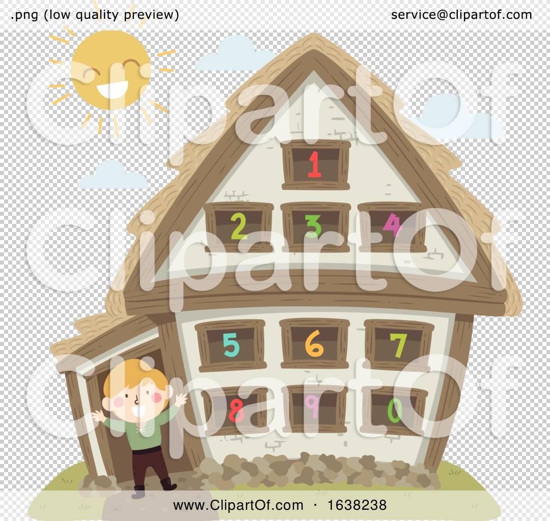 Kid Boy Peasant House Numbers Illustration By Bnp Design Studio