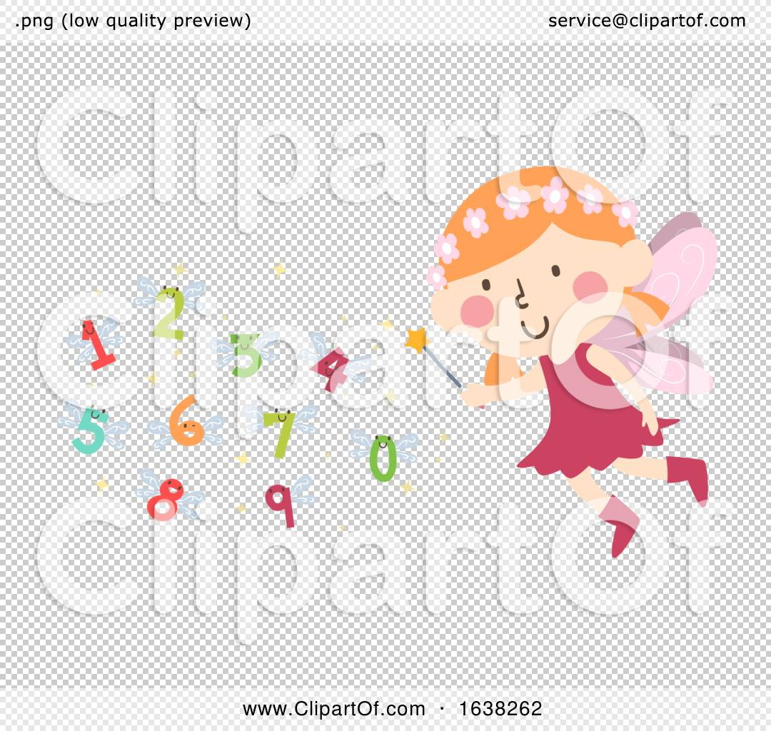 Kid Girl Fairy Wand Numbers Wings Illustration By Bnp Design Studio