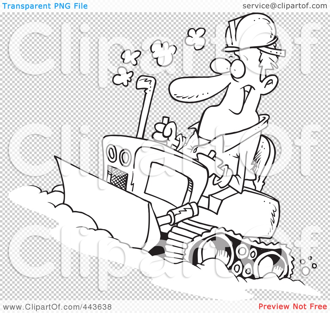 Royalty Free Rf Clip Art Illustration Of A Cartoon Black And White Outline Design Of A Man