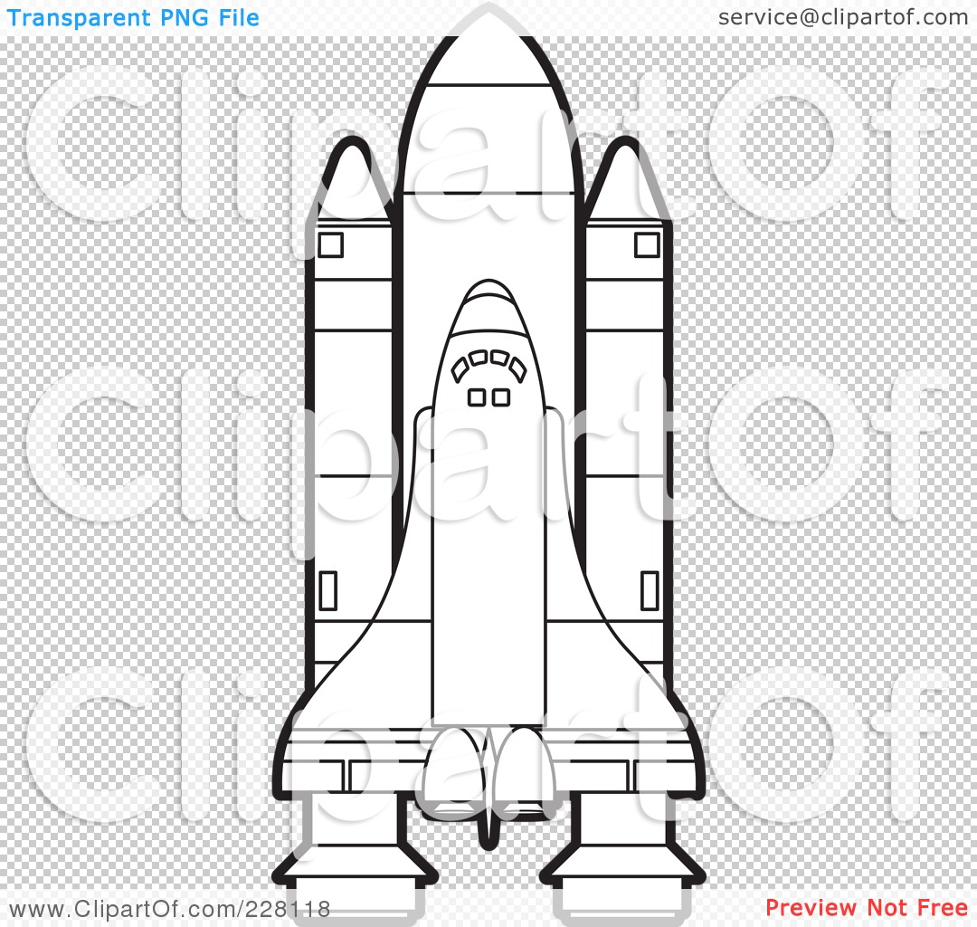 Royalty Free Rf Clipart Illustration Of A Coloring Page Outline Of A Shuttle By Lal Perera