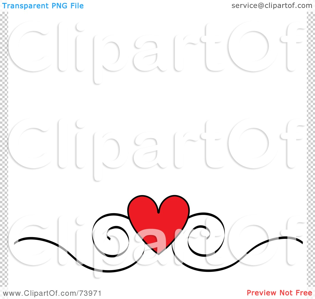 Royalty Free Rf Clipart Illustration Of A Red Heart And