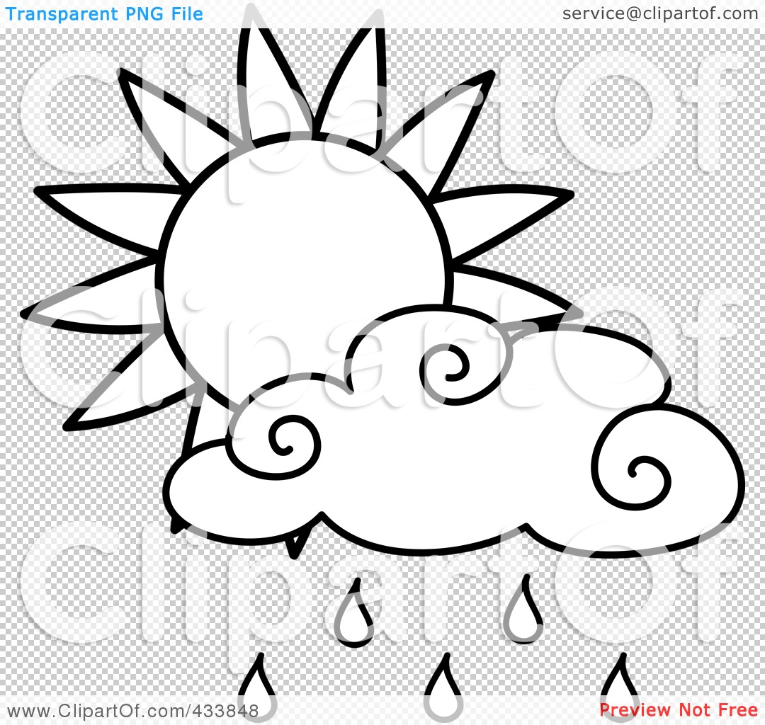 Royalty Free Rf Clipart Illustration Of An Outline Of A