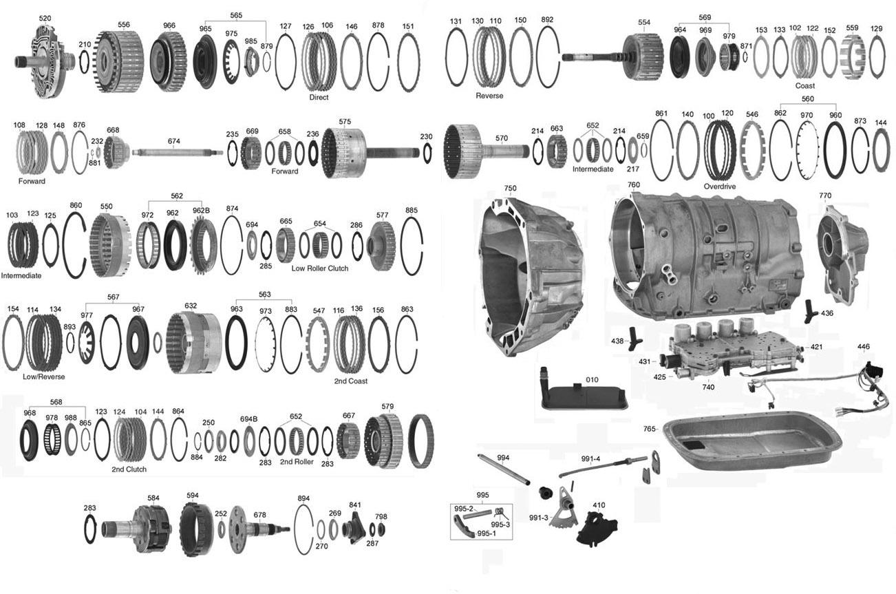 Trans Parts Online 5l40e 5l40e Transmission Parts