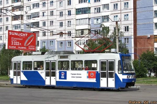 Фото: Барнаул, Tatra B3DM КВР Барнаул № 3077 — TransPhoto