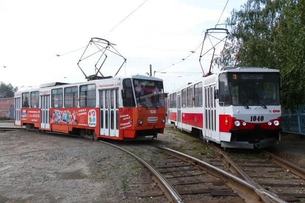 Фото: Барнаул, Tatra T6B5SU № 1039; Барнаул, Tatra T6B5SU ...