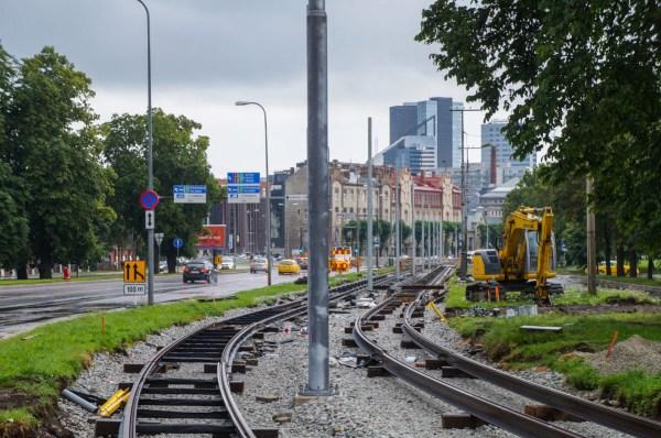 Фото: Таллин — Реконструкция путей и депо в направлении ...