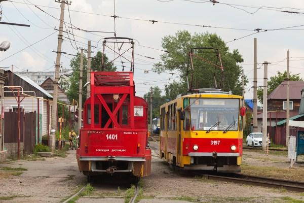 Фото: Барнаул, Tatra T3SU [двухдверная] № 1401; Барнаул ...