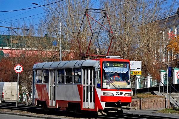 Барнаул, Tatra T3SU КВР Барнаул № 3059 — Фото — Городской ...
