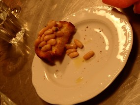 bruschetta with beans. the english should do beans and toast this way.