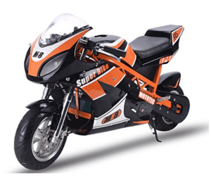 MotoTec 1000w Electric Super Bike For Adults - Black and Orange Featured Image