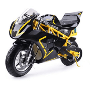 MotoTec 500w Electric Pocket Bike - Yellow+Black
