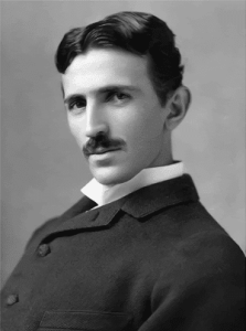 Nikola Tesla - Black and White HeadShot