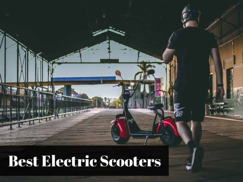 Adult Riding Electric Scooter At The Pier