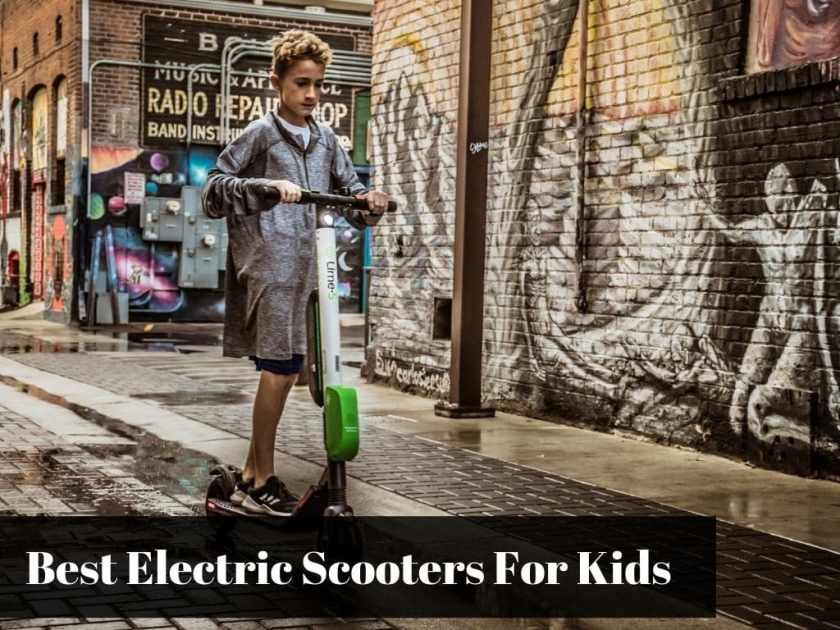 Rental Electric Scooter - Kid Riding Downtown