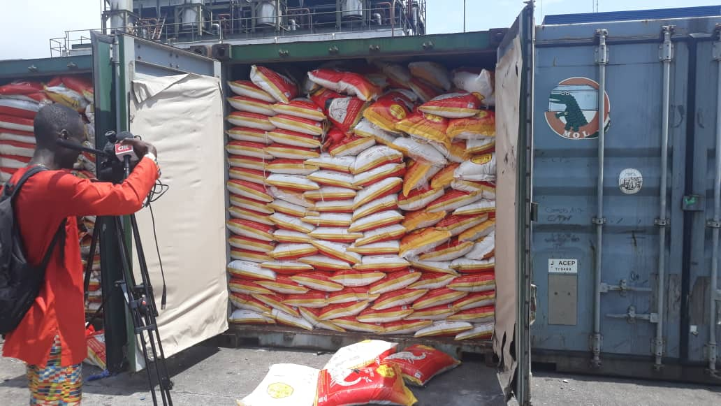 Anti-smuggling task force intercepts rice concealed in sand