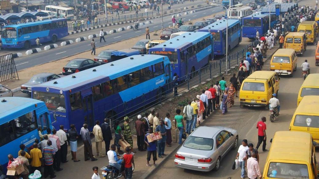 BRT buses in Lagos, Nigeria.