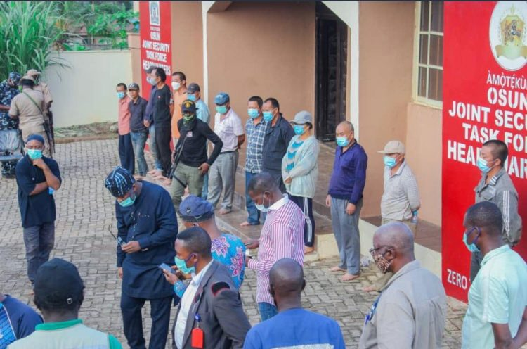 Illegal Chinese miners arrested in Osun state, Nigeria.