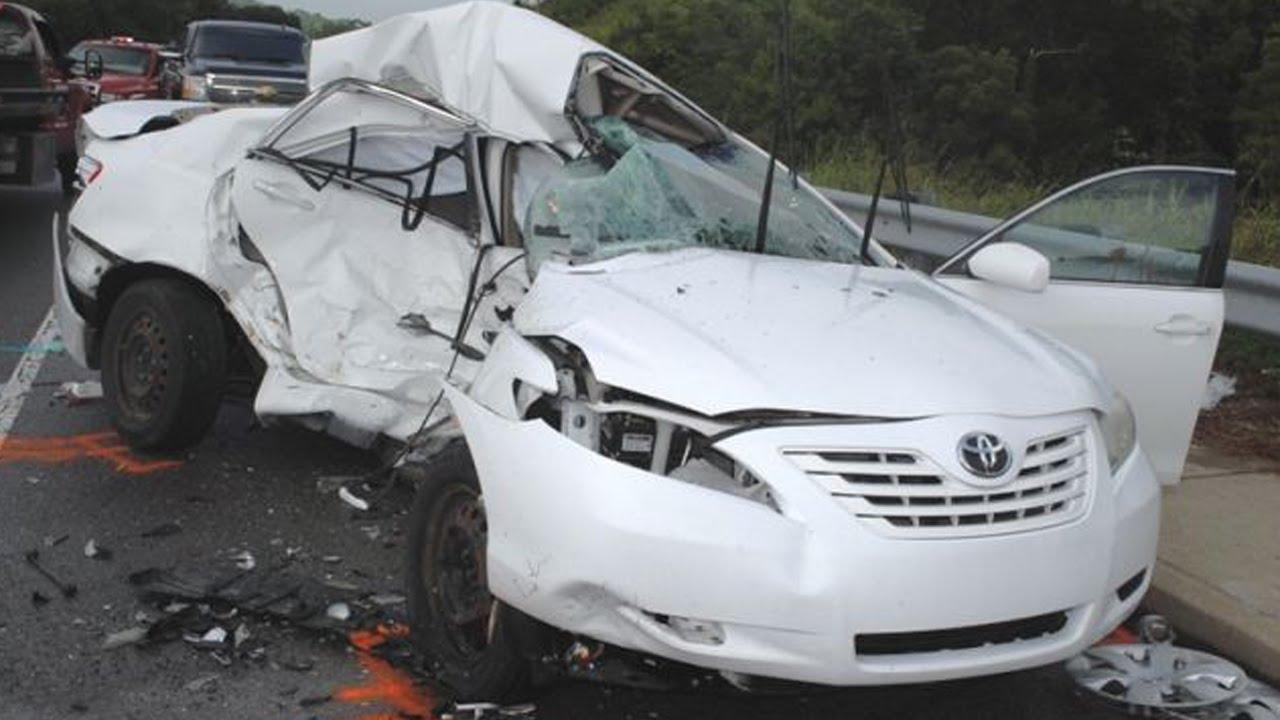 Fatal car crash involving a Toyota car.