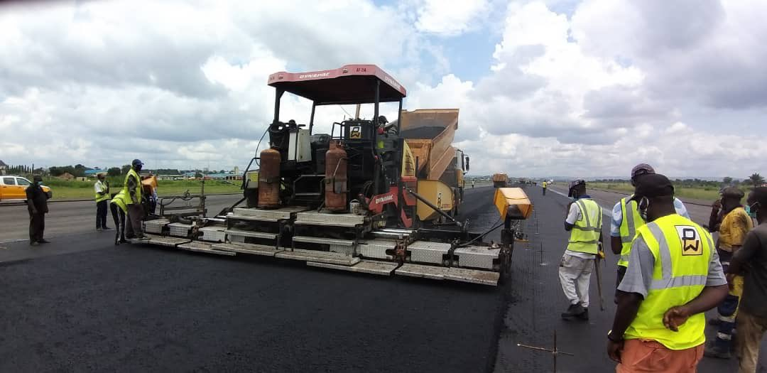 Reconstruction works at the Akanu Ibiam International Airport.